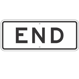 R3-9DP  End Sign