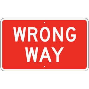 R5-1A Wrong Way Sign
