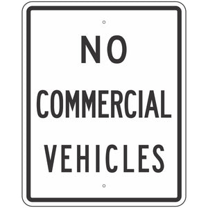 R5-4 No Commercial Vehicles Sign