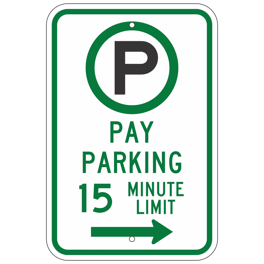 R7-21AR Pay Parking __ Minute Limit Sign