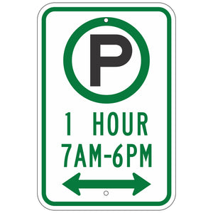 R7-23AD Parking One Hour Sign