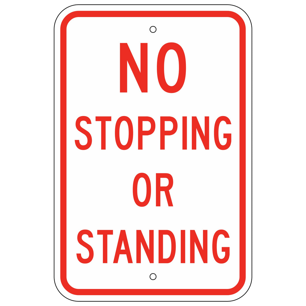 R7-4M No Stopping or Standing Sign