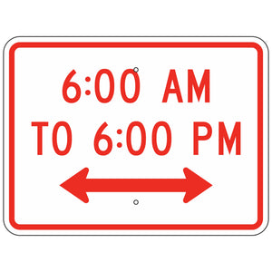 R8-3HP Custom Time of Day Sign