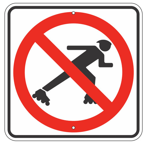 R9-13 No Skaters Sign