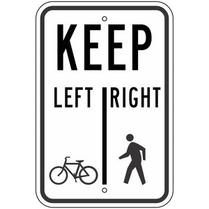 R9-7 Keep Left / Right Sign