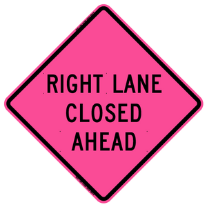 Right Lane Closed Ahead (Roll Up Sign)