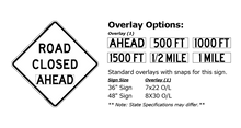 Load image into Gallery viewer, W20-3 Road Closed Ahead - Roll-Up Sign