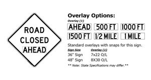 W20-3 Road Closed Ahead - Roll-Up Sign