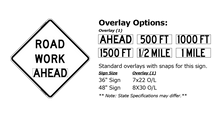 Load image into Gallery viewer, W20-1 Road Work Ahead - Roll-Up Sign