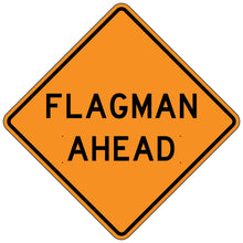 Load image into Gallery viewer, Flagman Ahead - Roll-Up Sign