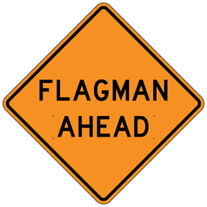 Flagman Ahead - Roll-Up Sign
