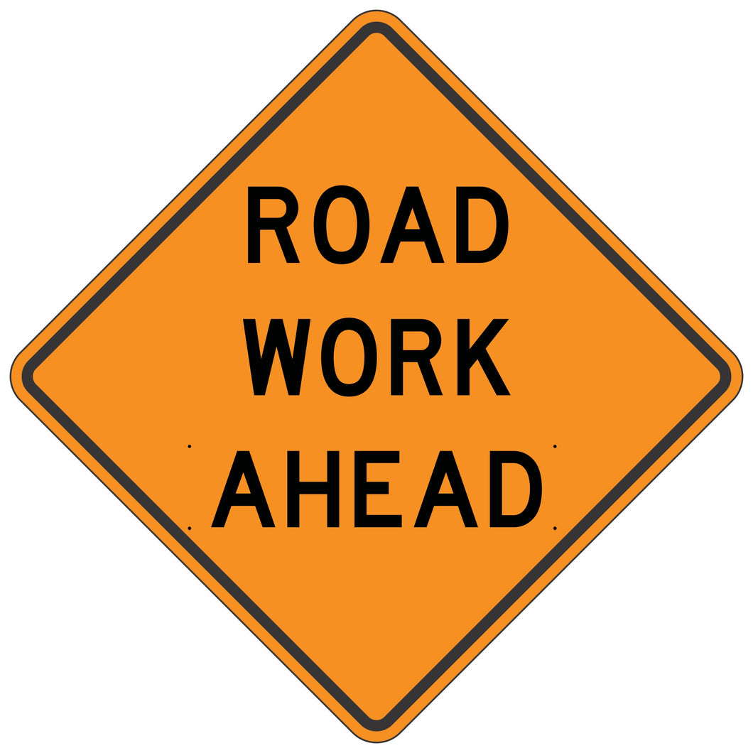 W20-1 Road Work Ahead - Roll-Up Sign