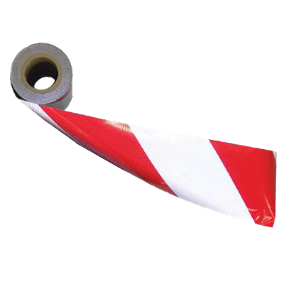 Barricade Sheeting - Red/White - 8