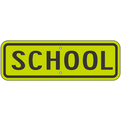 S4-3P School (Plaque) Sign