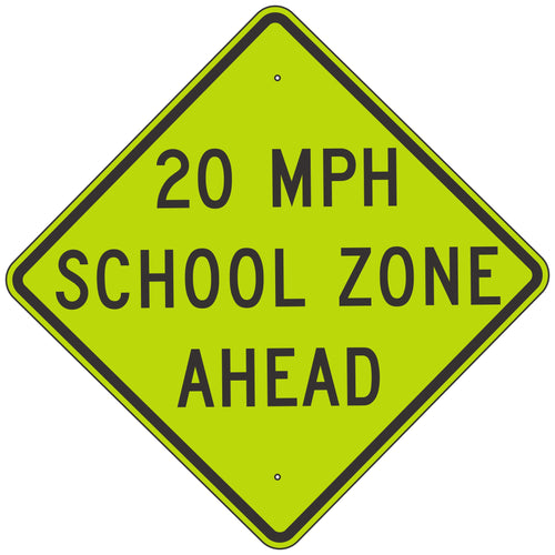 S4-5A School Zone Ahead Sign
