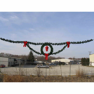5.5' Tall Deluxe Wreath with Lantern Skyline