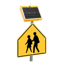 Load image into Gallery viewer, LED-Embedded, School Zone Warning Sign | SZ-5800