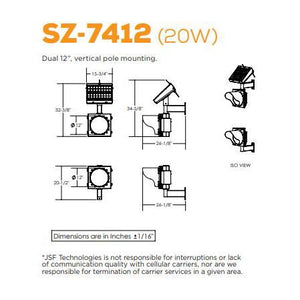 Dual, Vertical Pole Mounting School Zone | SZ-7412