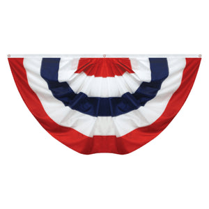 American Flag Pleated Full Fan - Stripes Only
