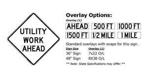 Utility Work Ahead (Roll Up Sign)