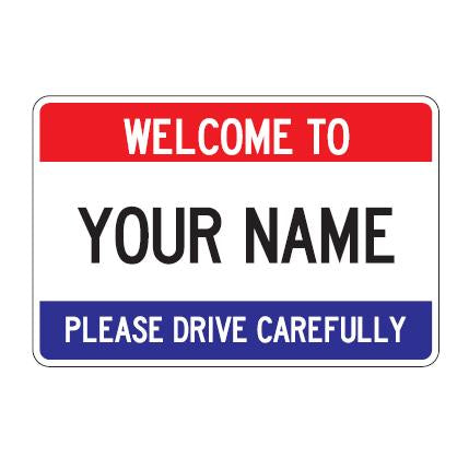 Welcome City Limit Border Sign