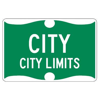 CLCB2-GW City Limit Colonial Border Sign