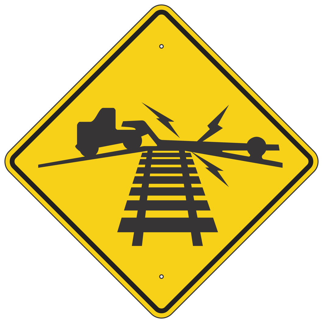 W10-5 Low Ground Clearance Highway - Rail Grade Sign
