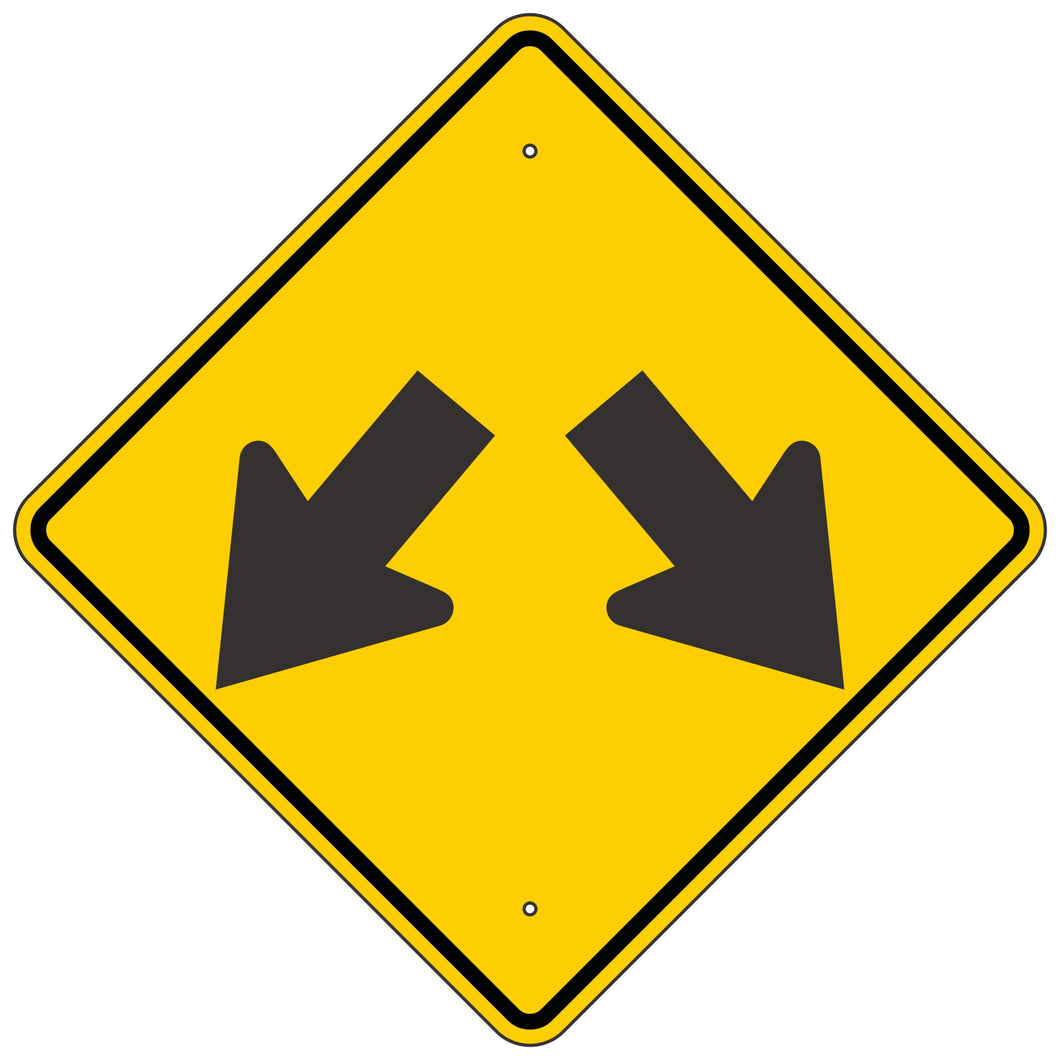 W12-1 Double Arrow Sign