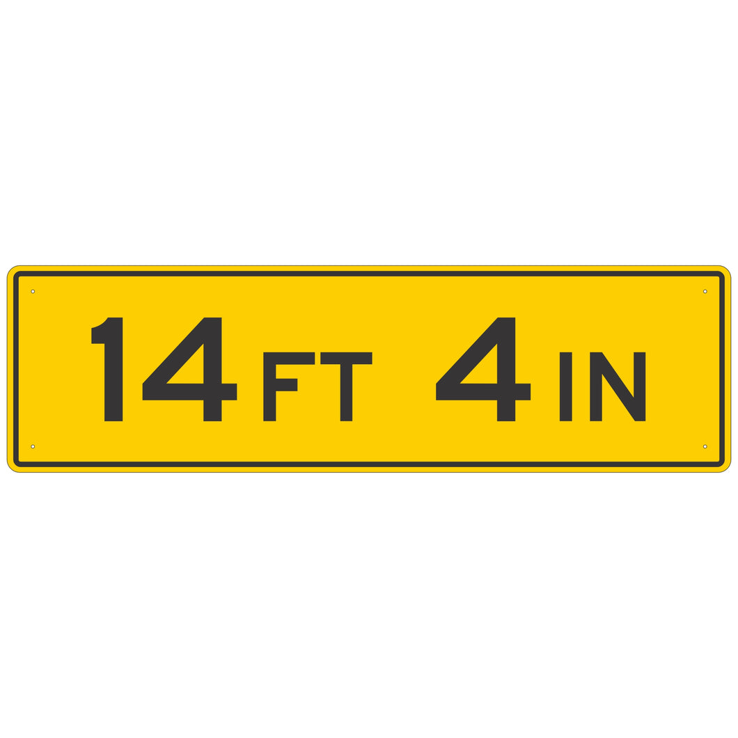W12-2A Low Clearance Sign