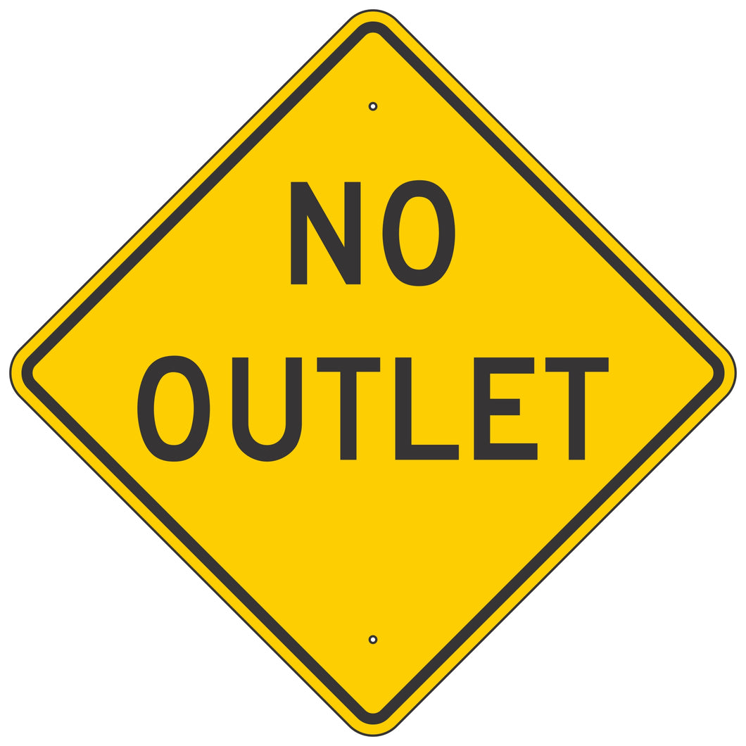 W14-2 No Outlet Sign