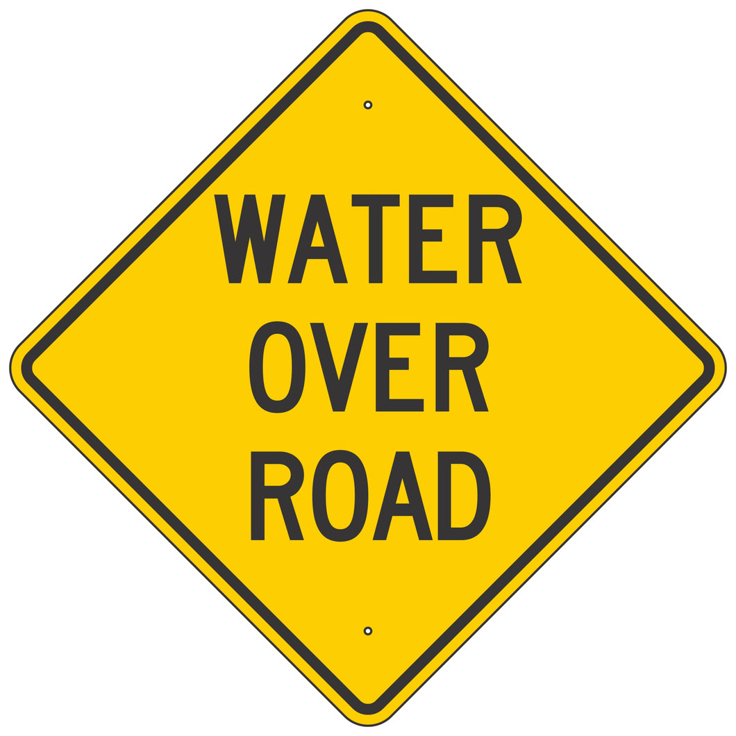 W15-6 Water Over Road Sign