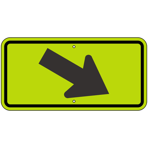 W16-7PR Right Arrow (Plaque) FYG Sign