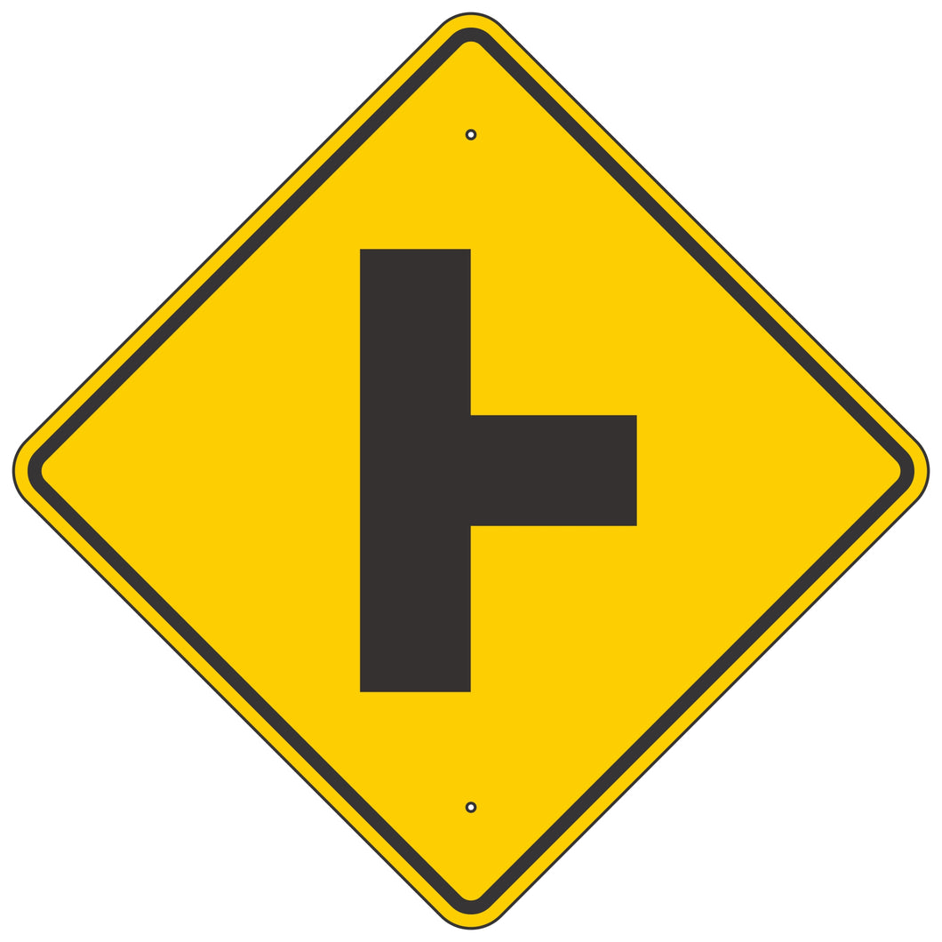 W2-2 Intersection Warning Sign