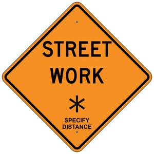 W20-1S Street Work XX Sign