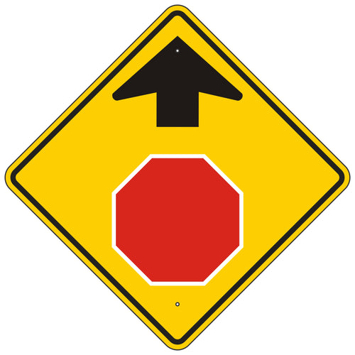 W3-1  Stop Ahead Symbol Sign