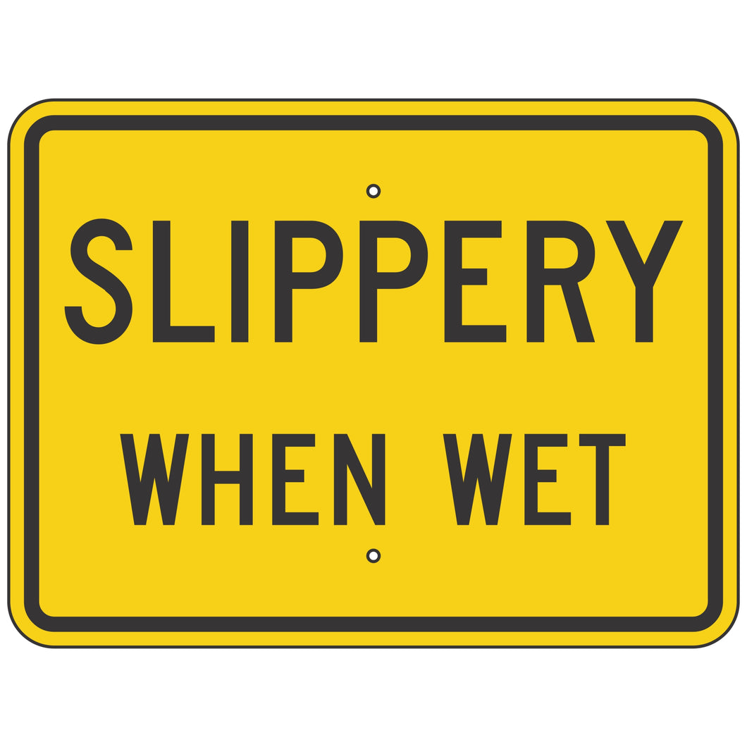 W8-10P Slippery When Wet Sign