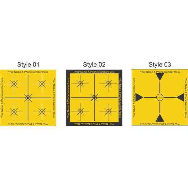 Self Adhesive Laser Survey Targets - Yellow