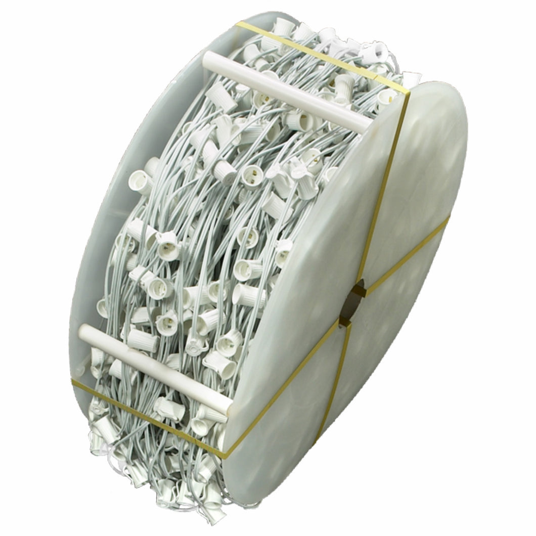 C9 Builder Cord - White Wire | 1000 FT -18ga