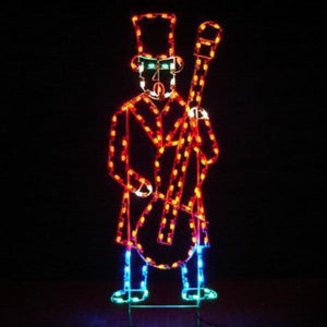 7' Yuletide Man with Base Yard Decoration