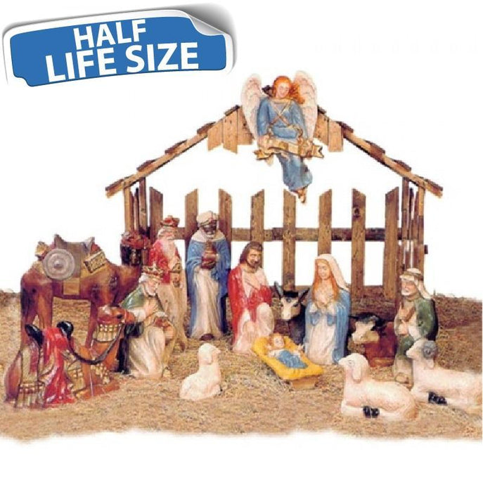 One Half Life Size Nativity Scene