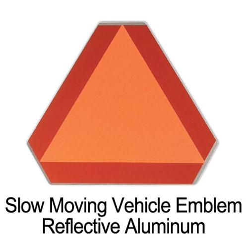 Slow Moving Vehicle Emblem - Metal