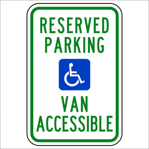 Reserved Parking Van Accessible