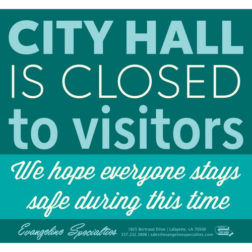 City Hall Closed - Printable Sign Pattern