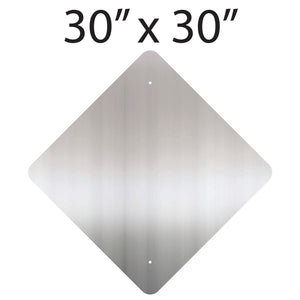 "30"" x 30"" Diamond Aluminum Sign Blank"