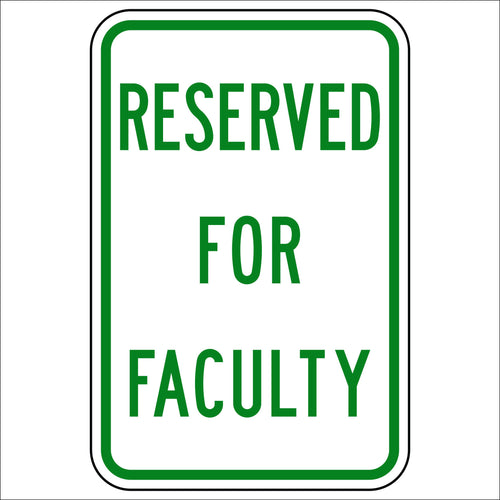 Reserved For Faculty