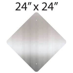 "24"" x 24"" Diamond Aluminum Sign Blank"