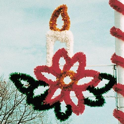 5-1/2' Garland Candle in Poinsettia Spray
