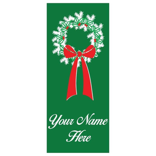 personalized Wreath Banner