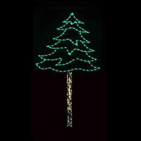 16' Pine Tree - Pole Mount Decoration
