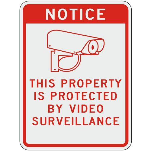 Notice This Property Is Protected By Video Surveillance